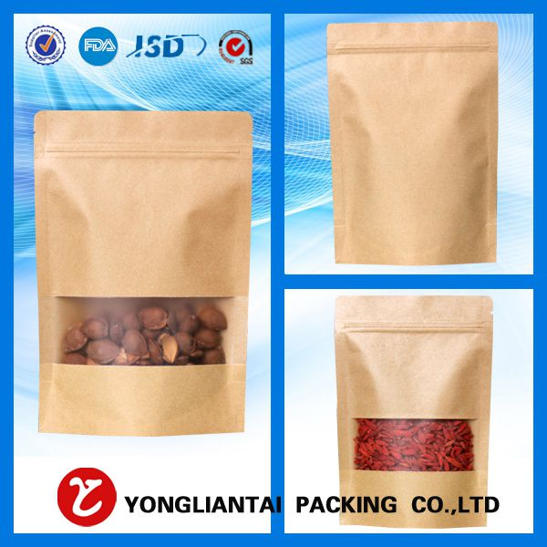 Brown paper bags with window manufacture